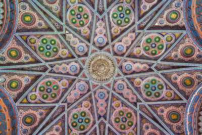 WOW - Extreme colour mosaic ceiling in an abandoned castle
