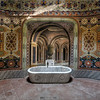 Moorish Bath - This massive castle lies on top of a hill overlooking the countryside. This small bathroom is one of the many moorish decorated rooms inside.<br /> <br /> 120x120cm / Edition of 5