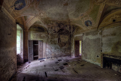 Baroque Inheritance - One of many ornate rooms in this abandoned villa