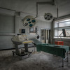 Like a Surgeon - in a far corner of a completely vandalised hospital this room escaped the destruction.