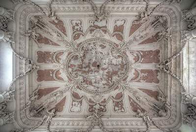 Angel Sky - This would be one of the most amazing ceilings I have ever encountered. Not just painted, but completely decorated with angel statues.