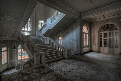 Stairway to Madness - Early morning shot in a former psychiatric hospital