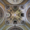 Chapel Dome - Even the chapel ceiling inside this abandoned castle is decorated to the max.