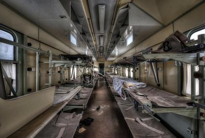 Train Ward - A complete hospital ward inside an abandoned train