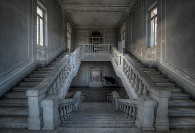 The Raven - Early morning staircase shot in a former mental hospital