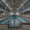 The Pool - Some amazing architectural designs in this former swimming pool. It would be an epic location to reconvert it into a dance hall.